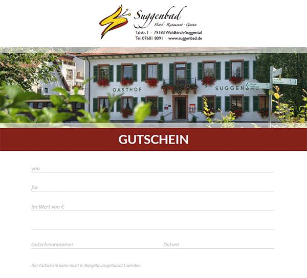 Gutschein Hotel Restaurant Suggenbad Waldkirch Bei Freiburg
